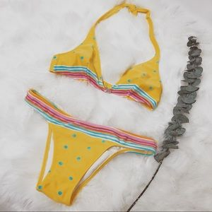 Salinas Itty Bitty Yellow Polk-a-Dot Bikini Set